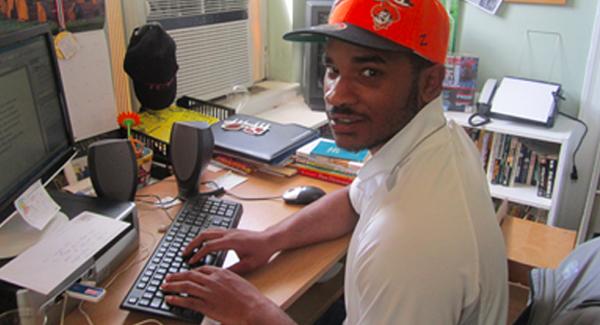 Antwan in the office