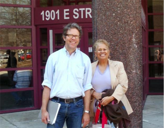 Jonathan Franzen with Brenda Ward
