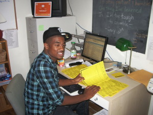 Jermaine in the office
