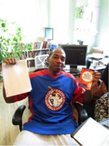 Demetrius in the office