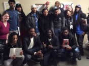 Free Minds members with author Emmanuel Jal