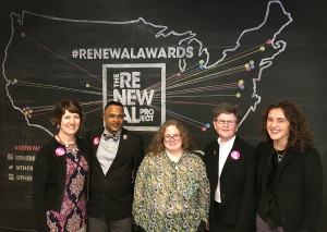The five winners of the Renewal Awards