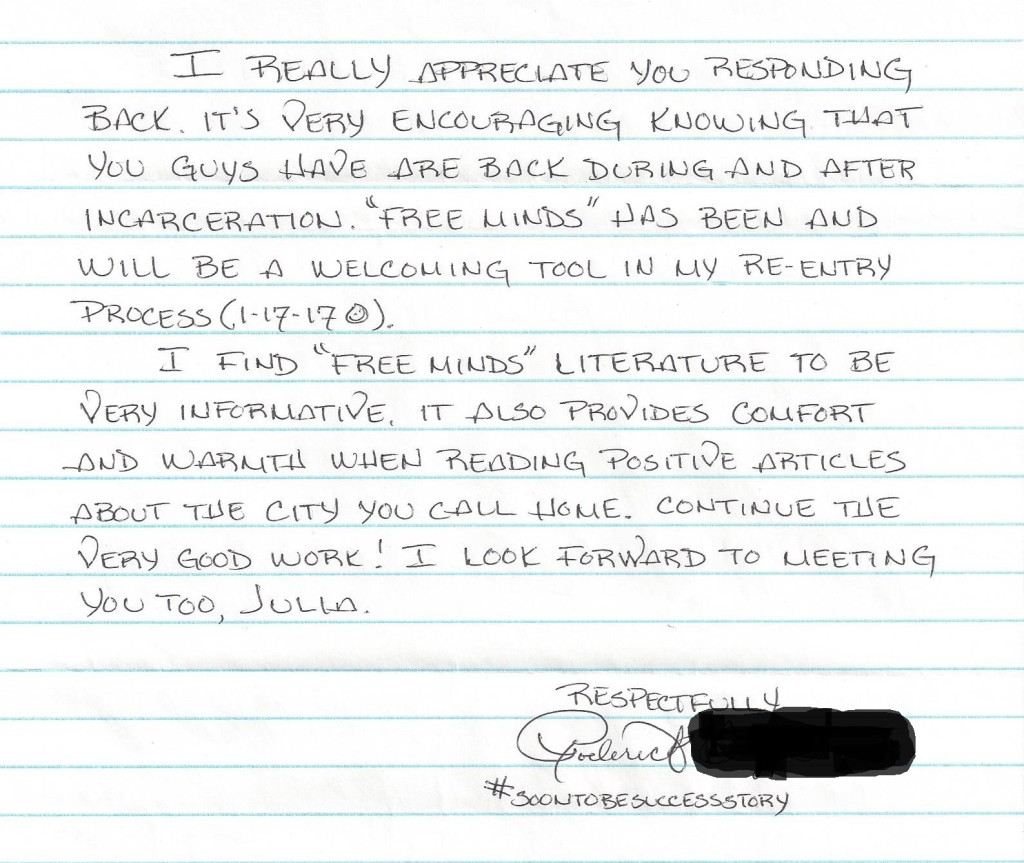A letter signed with #SoonToBeSuccessStory