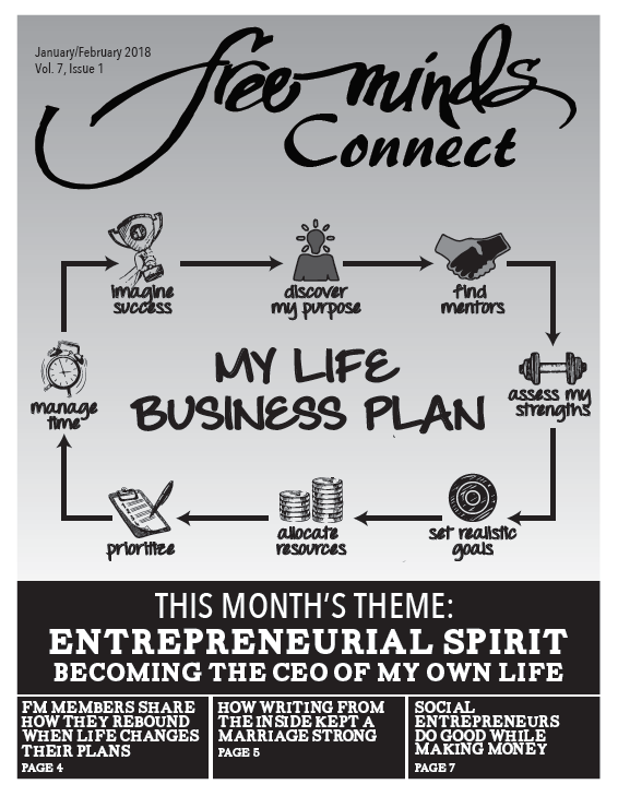 Cover Image: My Life Business Plan, with a cycle that says Imagine Success, Discover My Purpose, Find Mentors, Assess My Strengths, Set Realistic Goals, Allocate Resources, Prioritize, Manage Time