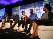"Free Minds staff on the Atlantic's ""The Art of Re-Entry"" panel for Justice in America!"