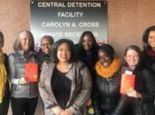 Danielle Evans outside the DC Jail with staff from Free Minds, PEN/Faulkner, and Public Welfare Foundation